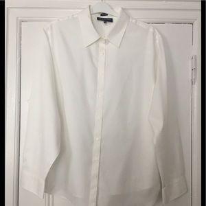 NWT Jones New York White No-Iron Dress Blouse